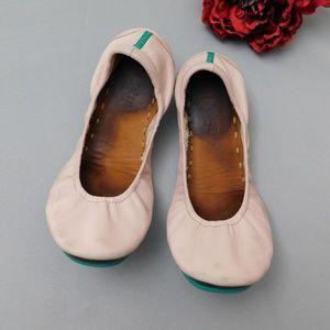 Tieks ballerina pink flats, sz 9